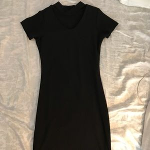 Black bodycon choker dress